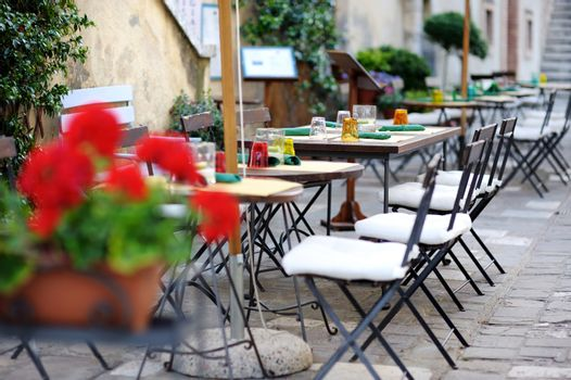 Outdoor cafe in Italy