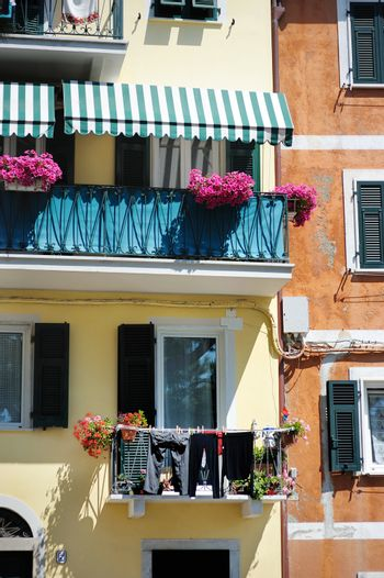 A colorful balcony in Italy