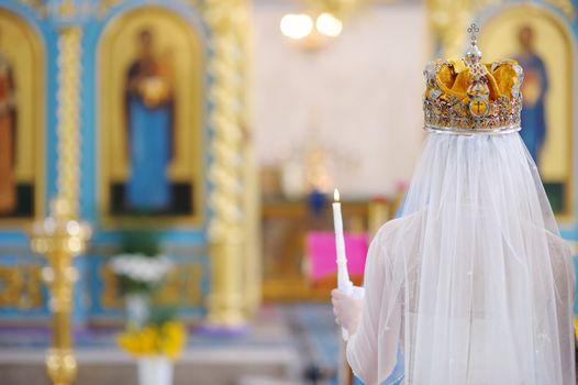 Bride in an orthodox church
