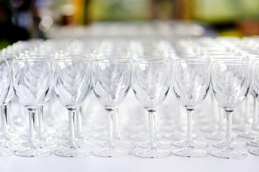 A lot of wine glasses