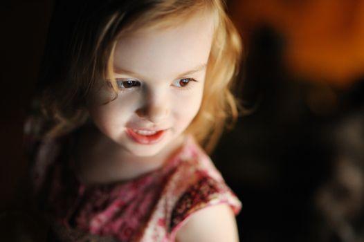Little girl casual portrait