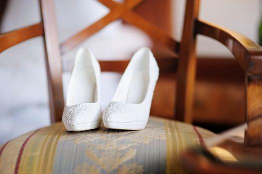 Elegant bridal shoes