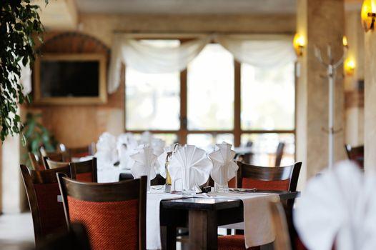 Stylish restaurant interior