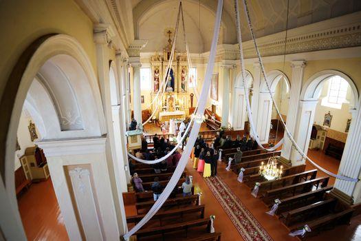 A wedding in a church