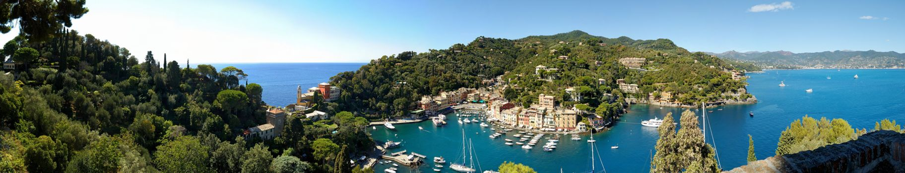 Panorama of Portofino town