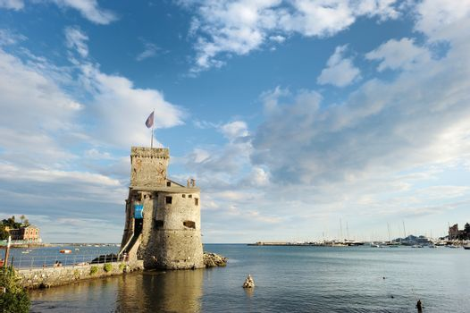 Old historic fortress of Rapallo town