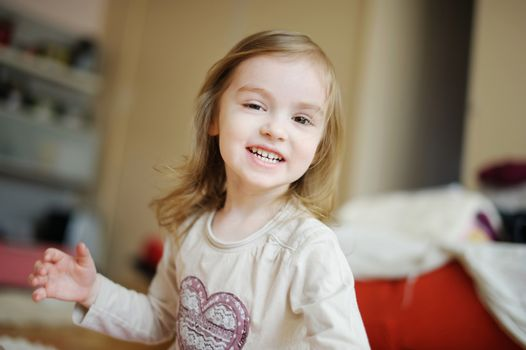 Adorable little girl laughing