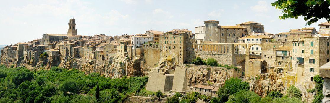Panorama of Pitigliano in Italy