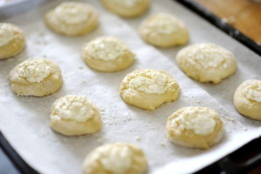 Ball dough on the tray