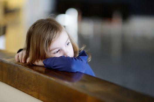 Thoughtful little girl portrait