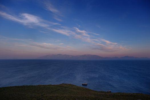 Beautiful sunset on Kos island
