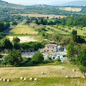 Mill waterfall of Terme di Saturnia