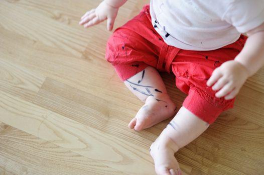 Toddler got his pants dirty