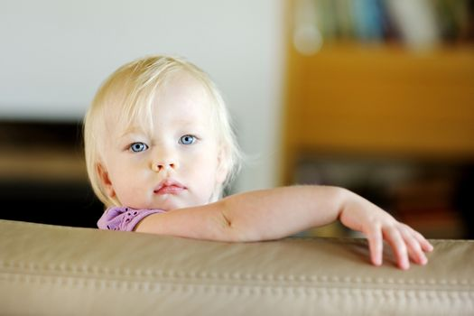 Adorable toddler girl portrait