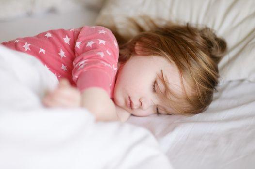 Adorable little girl sleeping
