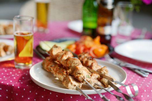 Delicious chicken kebab