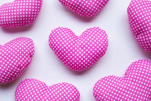 Valentine's hearts on white background