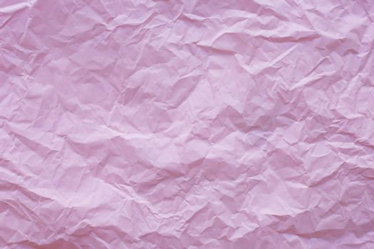 Pink crumpled recycle paper