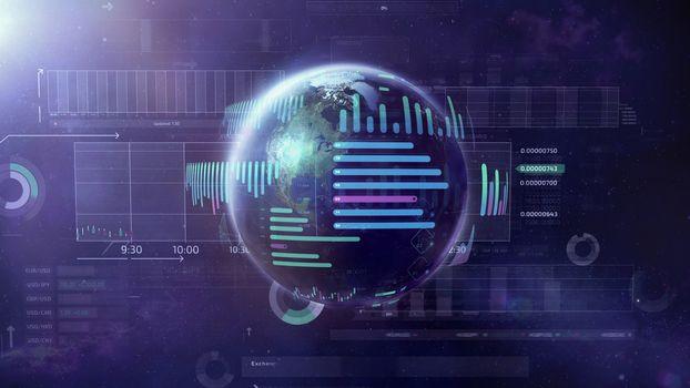 Illustration on the subject of Big Data World.