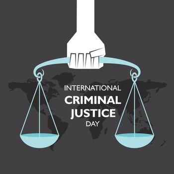 vector illustration for International Criminal Justice Day observed on 17th July , poster or banner design