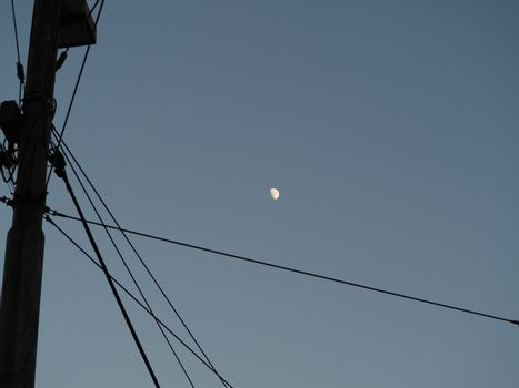 Waxing gibbous moon