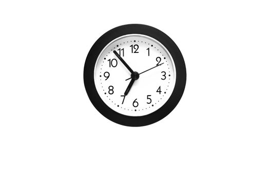 wall clock isolated on the white background. time concept
