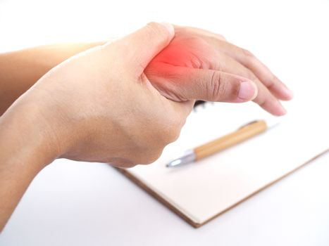 Nerve inflammation in wrist or disease of nerves in wrist