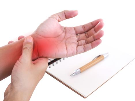 Nerve inflammation in wrist pain or disease of nerves in wrist