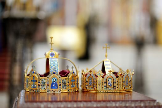 Two crowns as orthodox wedding accessories