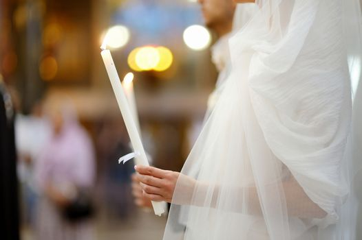 Bride in an orthodox wedding ceremony