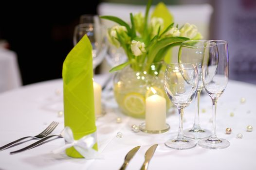 Table setting for an event party