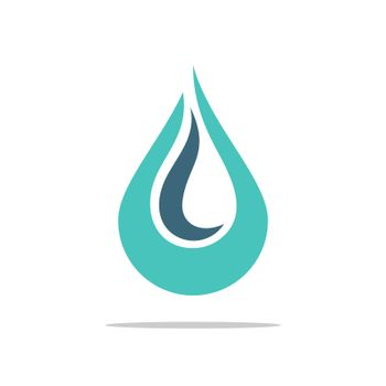 Ornamental Flame and Drop Water Logo Template Illustration Design. Vector EPS 10.