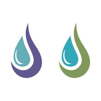 Drop Water Decorative Logo Template Illustration Design. Vector EPS 10.