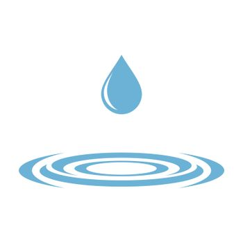 Blue Drop Water and Whirlpool Logo Template Illustration Design. Vector EPS 10.