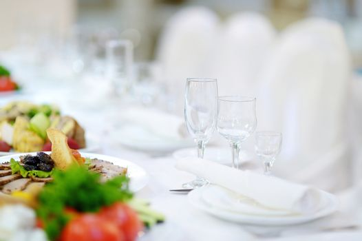 Table set for an event