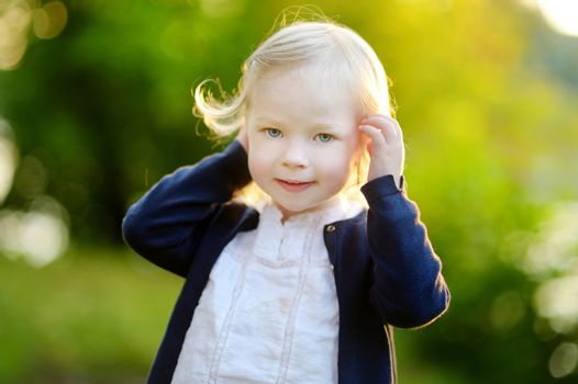 Portrait of a cute toddler girl