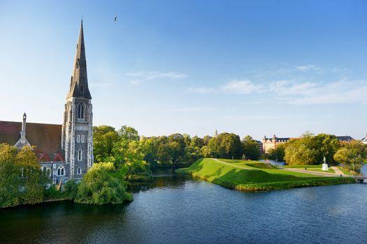 St Alban's church in Copenhagen, Denmark