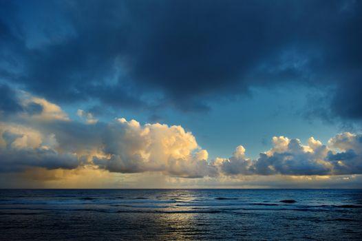 Sunrise at a tropical beach