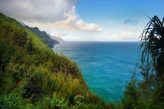 Kalalau trail in Kauai, Hawaii