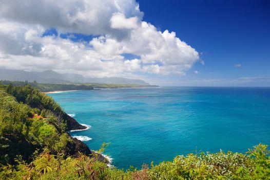 Beautiful landscape of Kauai island