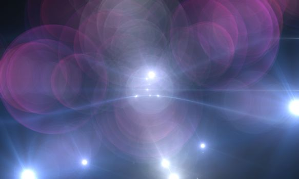 star with lens flare and bokeh effect made in 3d software