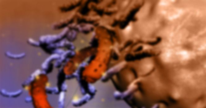 cancer cell colon made in 3d software