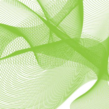 Abstract green Wave. template with blend shapes. Vector illustration