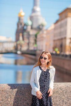 Cute girl in Sankt Petersburg in Russia