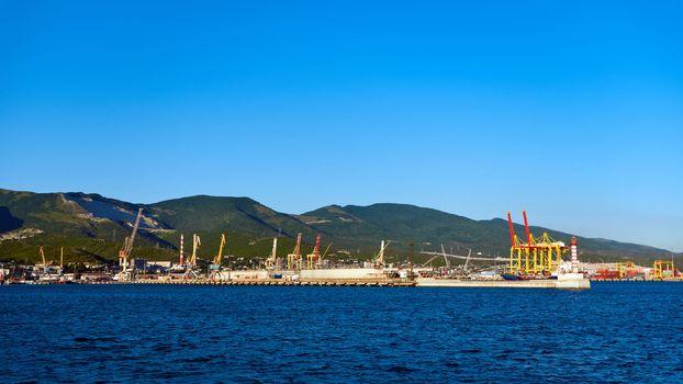 Eastern part of the port of Novorossiysk