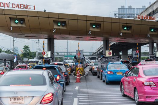Gate for expressway fee payment in Bangkok by EXAT