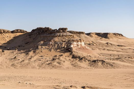 Geological formation in the desert of Al Wusta Governate, Sultanate of Oman