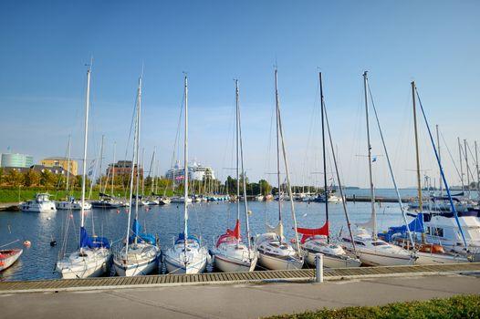 Yachts in marina of Copenhagen
