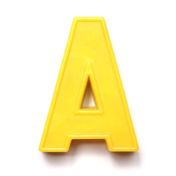 Magnetic uppercase letter A