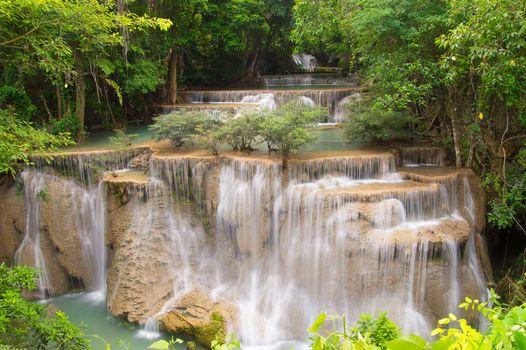 Huaymaekamin waterfall Kanchanaburi province,Thailand